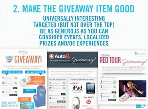 The importance of giveaways with marketing.