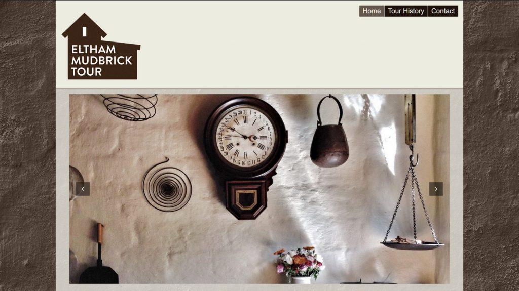 Top of the home page. Eltham Mudbrick Tour, November 2017.