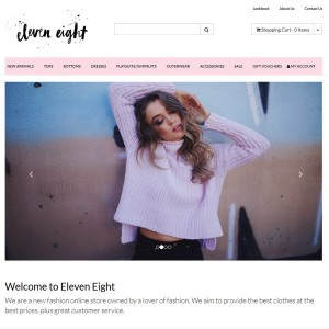 Eleven Eight, an e-commerce website. Built by Rinet IT.